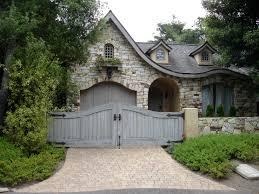 cottage garage doorsfront gate and cottage garage door  cottage garden landscaping