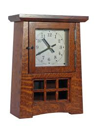arts and crafts pendulum clock in quatersawn white oak with michael s cherry stain