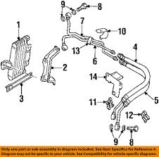 mitsubishi oem 92 94 montero engine oil cooler hose mb033789 mitsubishi oem 92 94 montero engine oil cooler hose mb033789