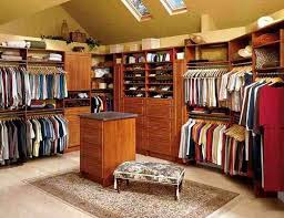Dining Room Closet Furniture Miraculous Small Walk In Closet Design Idea In Brown