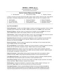 Resume Core Competencies Examples Enchanting Senior Human Resources Manager Resume