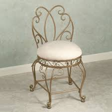 bathroom vanity chair with back. Chair For Bathroom New Cool Vanity With Back And Intricate Frame Decofurnish K