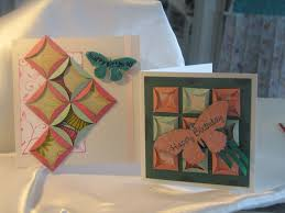 Paper Quilting | Purple Paper House & Our class this week was to create two cards using paper 'quilting' squares.  Although dubious to begin with, the girls said they loved the cards at the  end ... Adamdwight.com