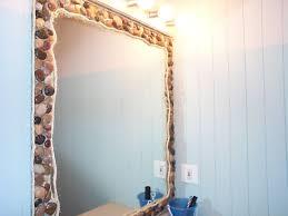 Decorating Bathroom Mirrors Seashell Decorations For Bathroom Seashell Wall Decor Bathroom In