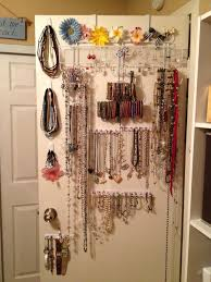 Bracelet Organizer Ideas Diy Over The Door Jewelry Organizer Plus Command Hooks Command