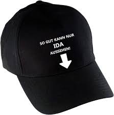 Multifanshop Almost Just Look Ida. Black Baseball Cap: Amazon.co.uk:  Clothing