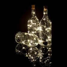 3 pack 5 ft 15 super bright warm white led battery operated wine bottle lights