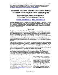 education students use of collaborative writing tools in  education students use of collaborative writing tools in collectively reflective essay papers