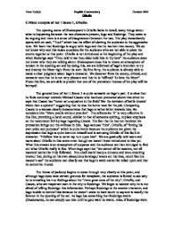critical analysis of act scene othello gcse english page 1 zoom in