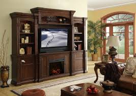 Dark Brown Wooden Custom Made Fireplace Entertainment Centre With ...