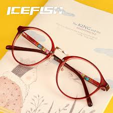 get ations feather light finished with myopia glasses frames for men and women big box retro blue circle