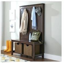 Corner Hall Tree Coat Rack Awesome Entryway Storage Bench With Coat Rack Hall Tree Multi Functional