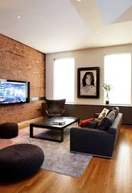 view in gallery in this living room the exposed brick