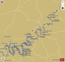 Cumberland River Charts Cumberland River Mile 307 To Mile 381 Marine Chart