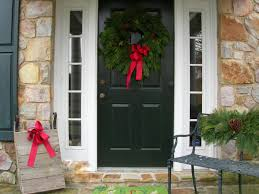 Front Door Decorating Stunning Christmas Front Door Decor Ideas Christmas Porch And