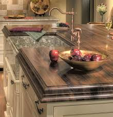 wood countertop of walnut with sink
