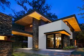 modern home architecture stone. Cantilevered Modern Home With Stacked Stone | Triptych Architecture HGTV S