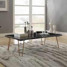 telestis rectangular coffee table black marble gold main image