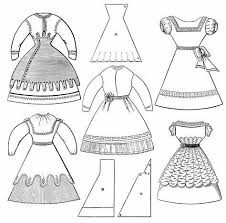put on clothes clipart black and white. Simple And Victorian Girlsu0027 Dresses  Free On Put Clothes Clipart Black And White B