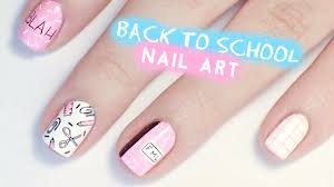 Back to School Nail Art | Tumblr Inspired - YouTube