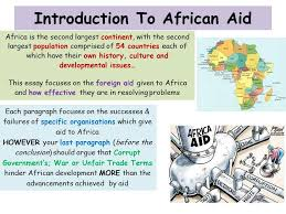 world issues development in africa ppt introduction to african aid