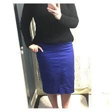 Jade Mackenzie Royal Blue Denim Pencil Skirt