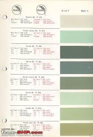 Fiat Paint Color Chart Original Vintage Car Paint Colours Page 2 Team Bhp