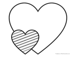Angel holding heart coloring page. Easy Heart Coloring Pages For Kids Stripe Patterns What Mommy Does