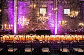 best design centerpiece ideas featuring long dining table with purple patterned tablecloth and clear glass floating candles table centerpiece