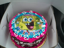 Number 25 Cake Spongebob Birthday Card 25th Wedding Anniversary