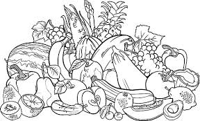 Small Picture Fruits And Vegetables Coloring Pages Coloring Pages Ideas Reviews