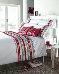 duvet covers luxury bedding red white colour stylish striped ruffle modern duvet cover luxury bedding duvet