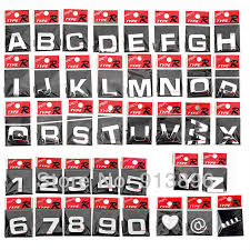 car letter decals free shipping 10pcs letter 3d sticker auto chrome badge letter decal