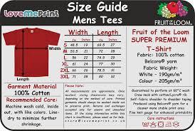Fruit Of The Loom Womens T Shirt Size Chart Nils Stucki