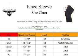 Mcdavid Knee Pads Size Chart Shooter Sleeves Bucwild Sports 1 Pair 2pcs Padded Leg