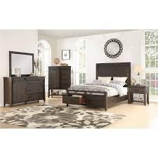 Rustic Contemporary Brown 4 Piece Queen Bedroom Set - Montana   RC ...