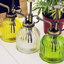 retro style glass watering can mister flower garden plant spray bottle pump