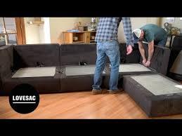 lovesac modular furniture assembly