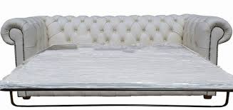 white leather sofa bed. Chesterfield 3 Seater Settee Sofa Bed White Leather