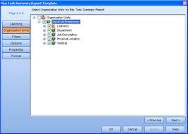Dialogs: Task Summary Report Template