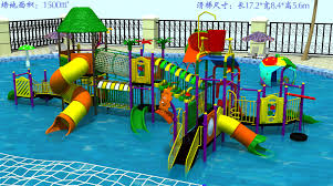 Children water park equipment play slide for sale
