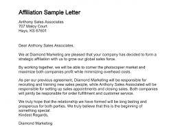 Letter Of Affiliation
