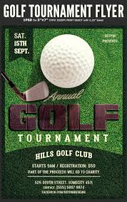 Golf Tournament Flyer Template Hotpin Templates Golf Tournament Flyer Template