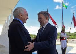 Resultado de imagen para visita del gobierno colombiano al Brasil