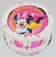 Minnie Mouse Birthday Cake Edible Image Cake Kids Cakes Childrens