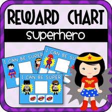 Superhero Rewards Charts Special Education