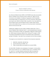 Format For An Executive Summary Business Plan Summary Template 3 4 Executive Summary Format