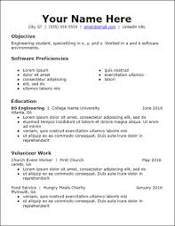 No Experience Student Resumes No Work Experience Resume Templates Free To Download