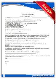 Bank Loan Agreement Format Free Printable Bank Loan Agreement Sample Printable Legal Forms 1
