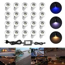 12v Led Patio Lights Details About 20pcs 0 6w Ip67 12v Outdoor Stairs Yard Patio Path Led Inground Deck Step Lights